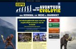 Website voor de Evolutie Expo