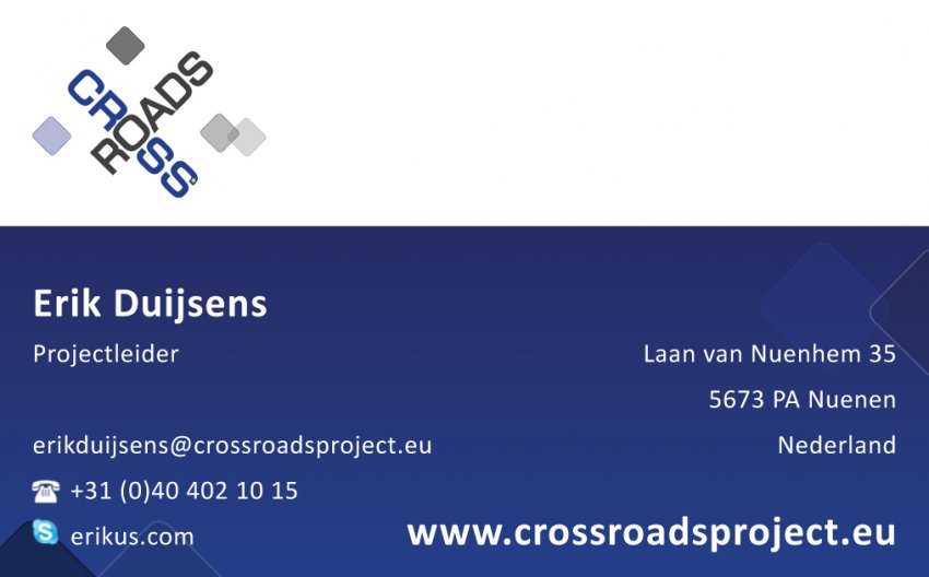 Stichting Grensoverschrijdende Innovatie CrossRoads OLD: Diverse drukwerken voor het CrossRoads project