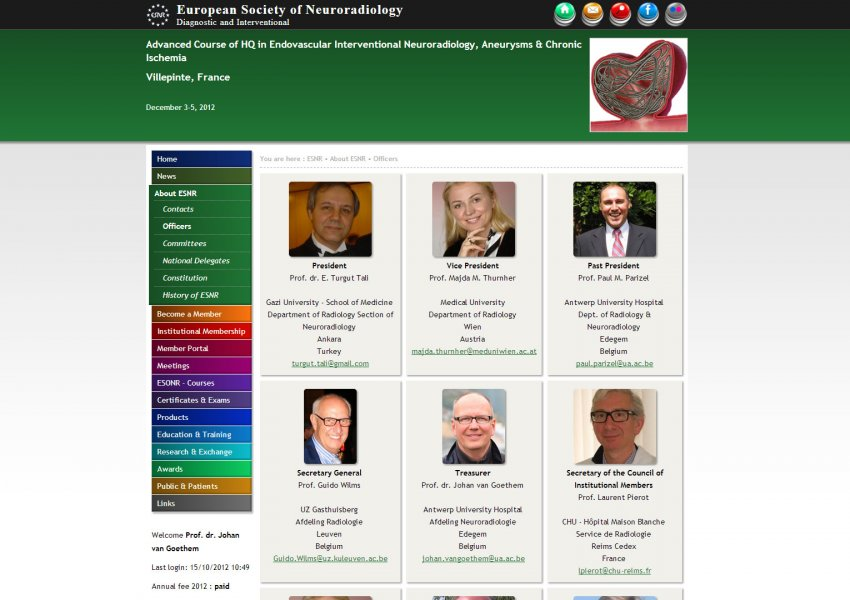 ESNR - European Society of Neuroradiology, Diagnostic and Interventional - Central Office: European Society of Neuroradiology