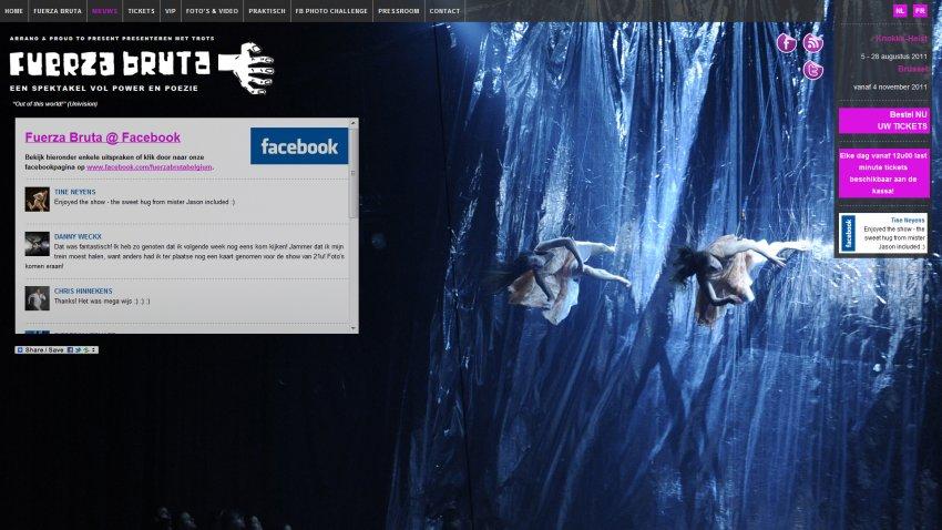 Arrano bvba: Facebook toepassingen voor Fuerza Bruta