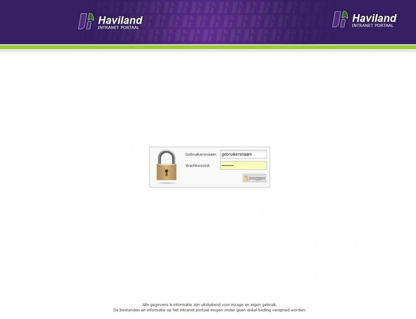 Haviland igsv: Intranet voor Haviland