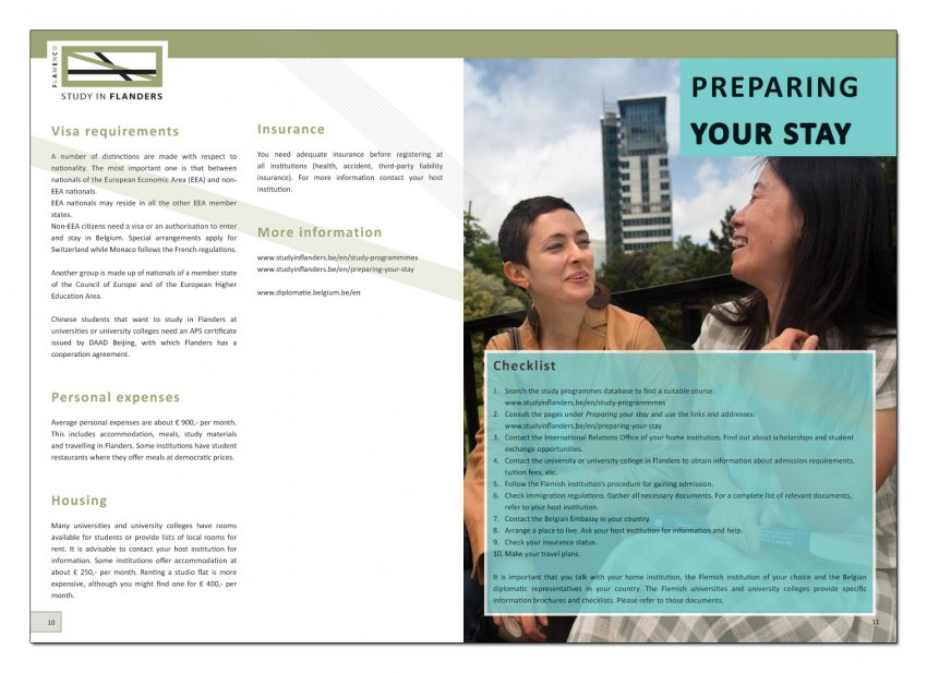 VLUHR: Jaarlijkse brochure van Study In Flanders