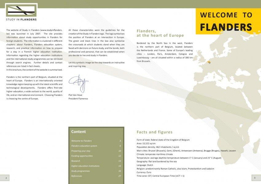 VLUHR: Jaarlijkse brochure van Study In Flanders (editie 2012-2013)