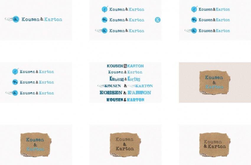 Kousen & Karton: Logo Kousen & Karton