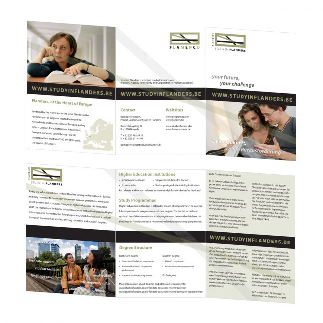Flanders Knowledge Area vzw: Meertalige brochure van Flamenco vzw