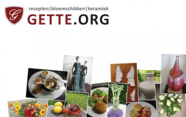 Georgette Lekens: Naamkaartje & flyer Gette.org