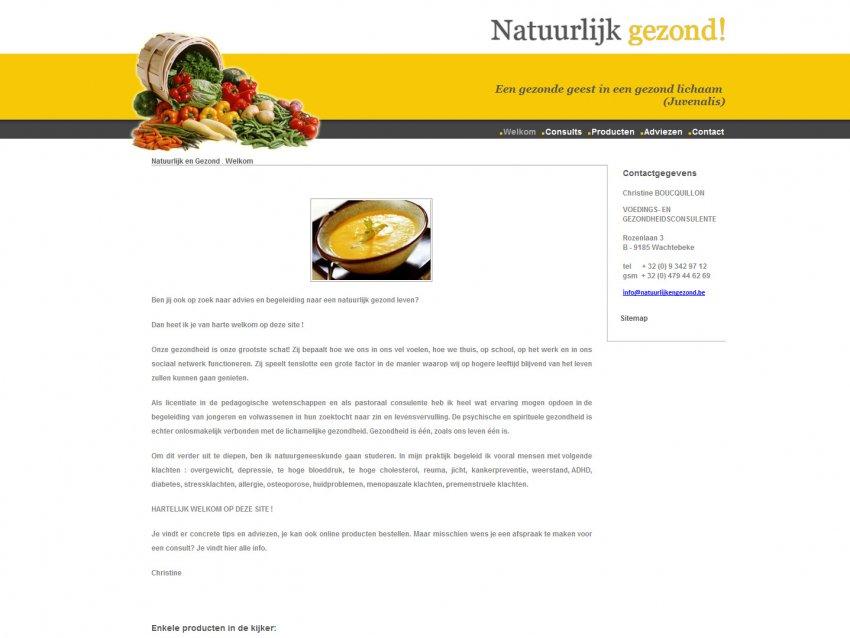 Natuurlijk & Gezond | Boucquillon Christine: Natuurlijk en gezond