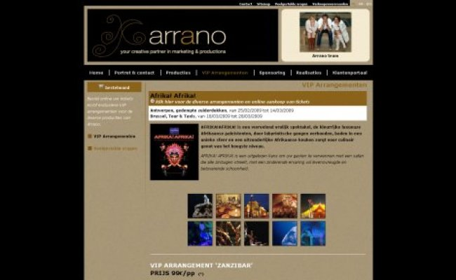 Arrano bvba: Online VIP tickets via www.arrano.be