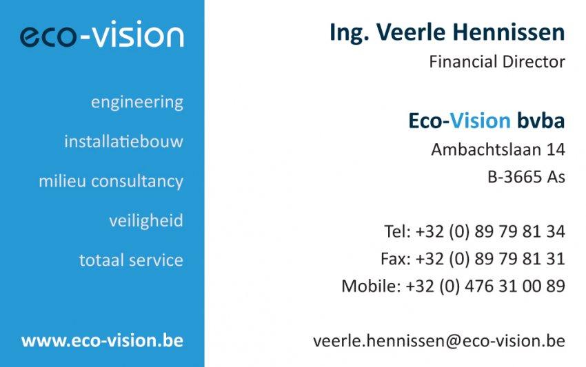 Eco-Vision bvba: Ontwerp van naamkaartje en poster(s)