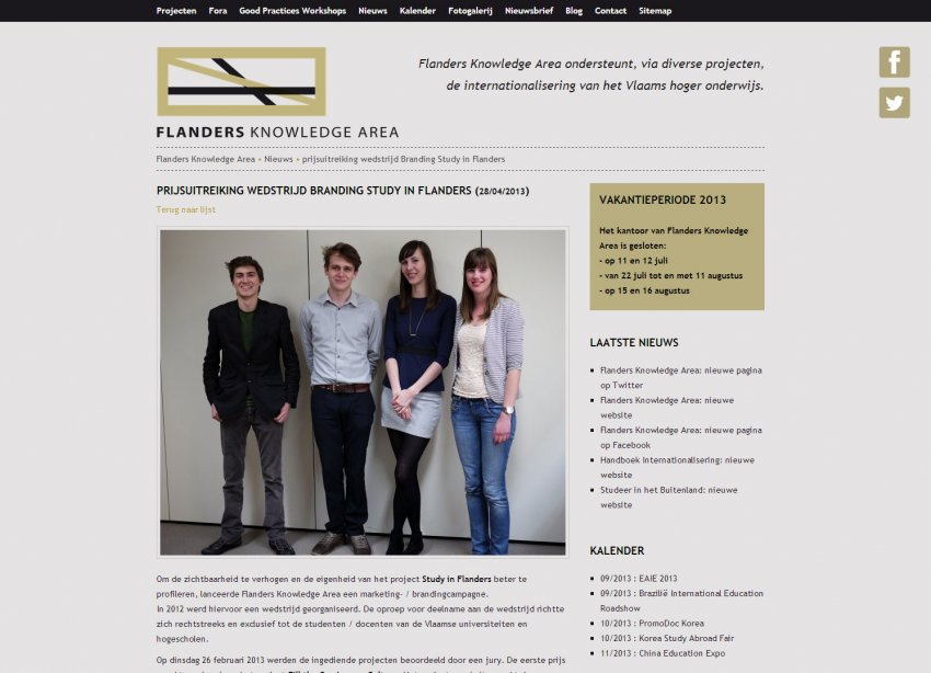 VLUHR: Restyling website Flamenco / Flanders Knowledge Area