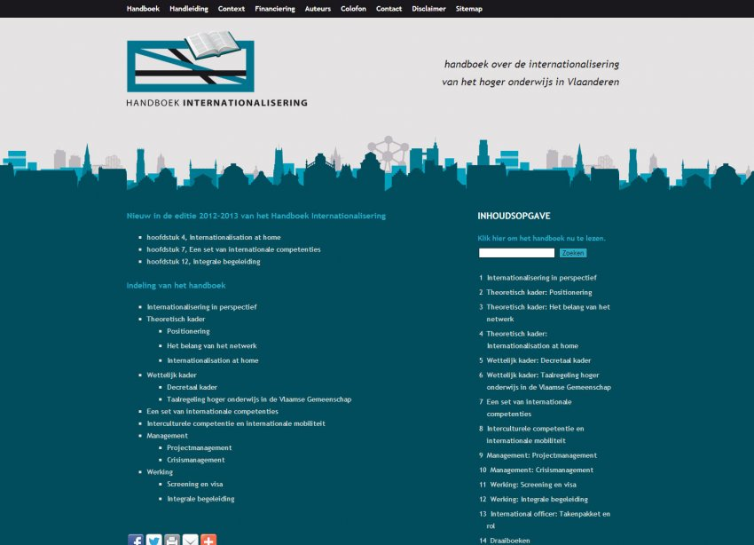 Flanders Knowledge Area vzw: Restyling website Handboek Internationalisering