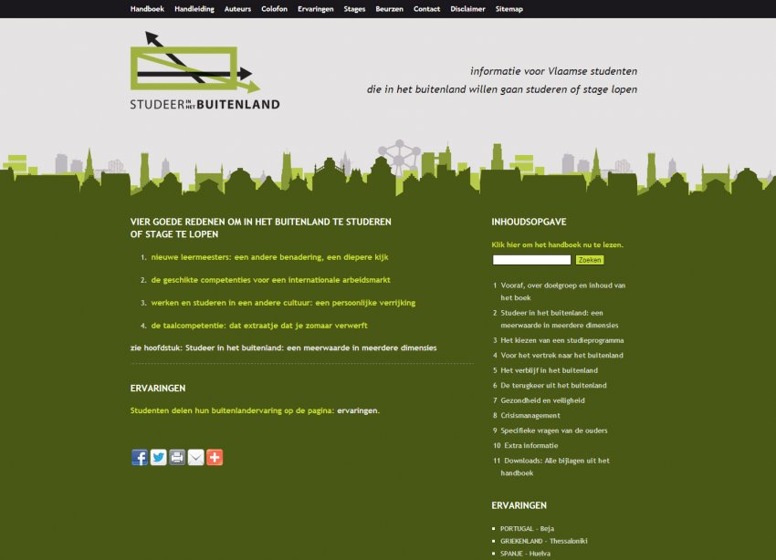 Flanders Knowledge Area vzw: Restyling website Studeer in het Buitenland