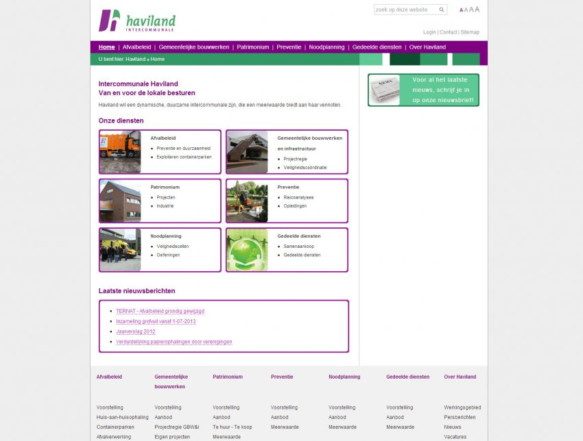 Haviland igsv: Restyling website van Haviland