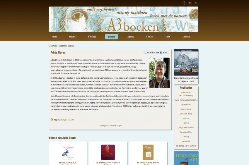 A3 communicatie- en uitgeefprojecten: Webshop van A3 boeken