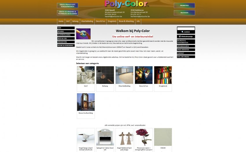 Poly-Color  n.v.: Webshop van Poly-Color
