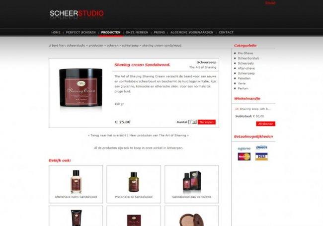 Scheerstudio vof: Webshop van Scheerstudio