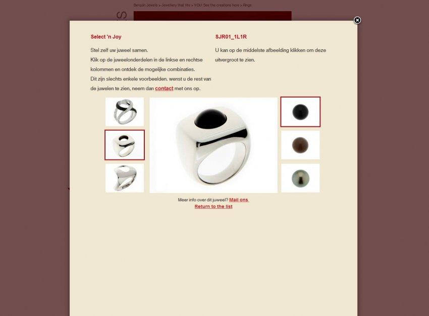 Berquin Jewels: Website Berquinjewels.be