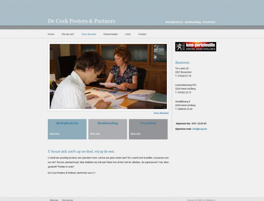 De Cock, Peeters & Partners VOF: Website De Cock Peeters & Partners