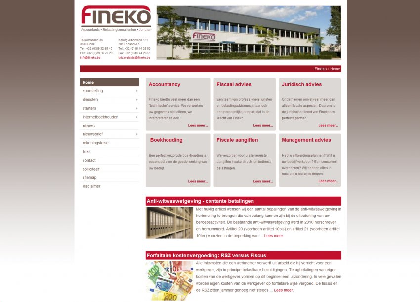 Fineko n.v.: Website & integratie sociale media