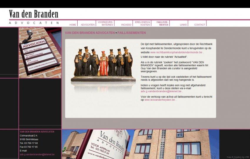 Van den Branden Advocaten: Website Van den Branden Advocaten