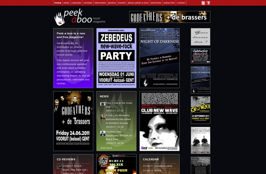 Body Beats  vzw: Website Peek-A-Boo Magazine