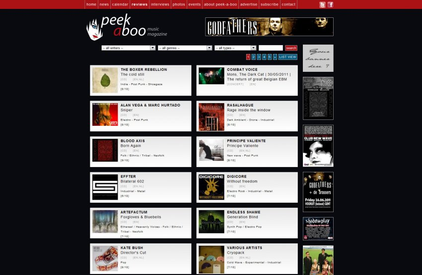 Body Beats  vzw: Website Peek-A-Boo Magazine