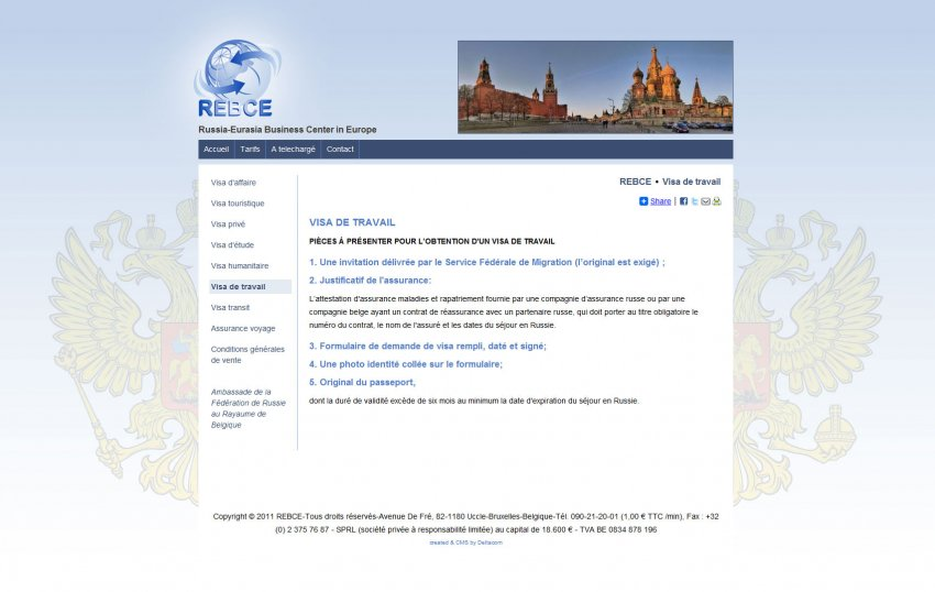 Russia-Eurasia Business Centre sprl: Website Russia-Eurasia Business Center in Europe