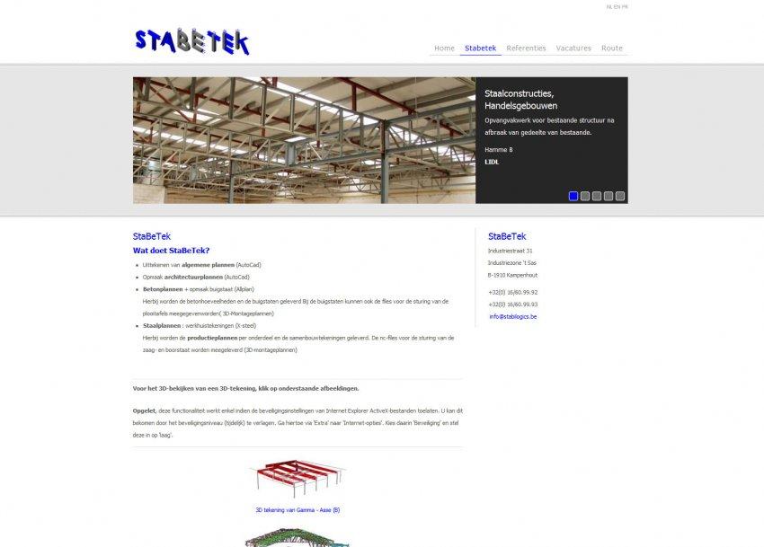 StaBeTek: Website stabetek.be