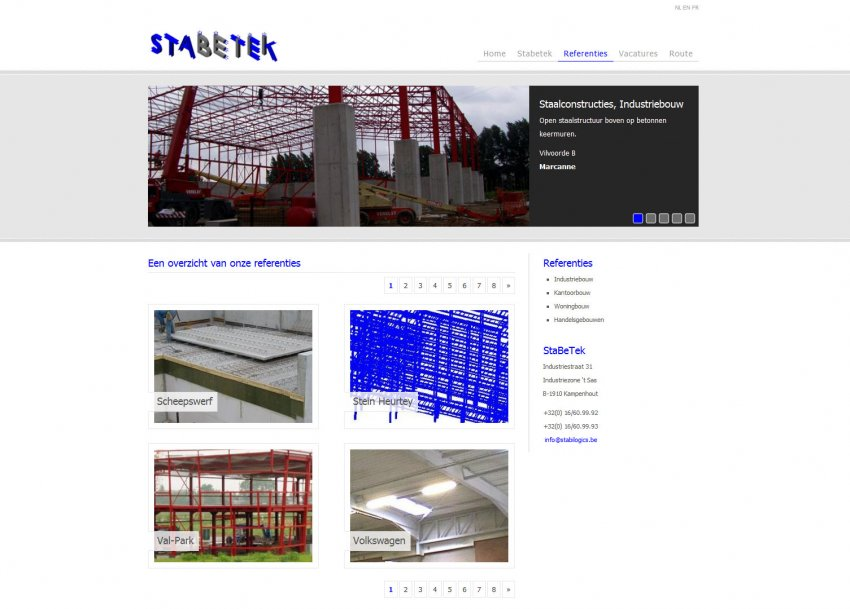 StaBeTek: Website stabetek.be