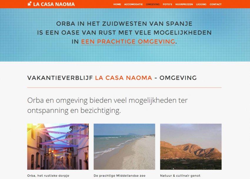 La Casa Naoma: Website Vakantieverblijf La Casa Naoma