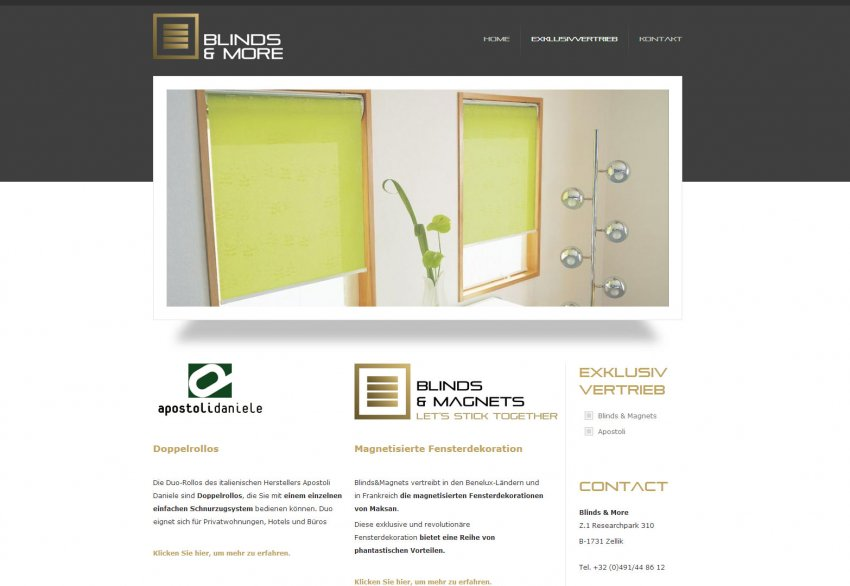 Blinds & More bvba: Website van Blinds & More
