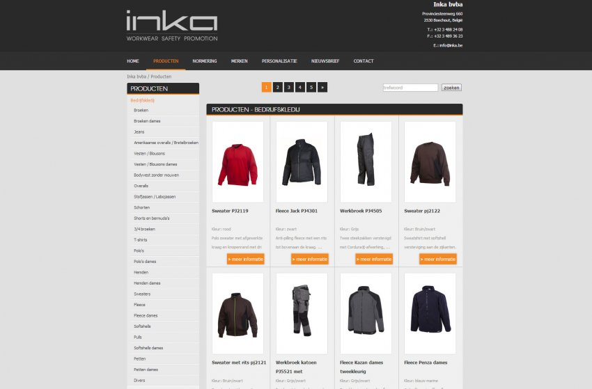 Inka bvba: Website van Inka