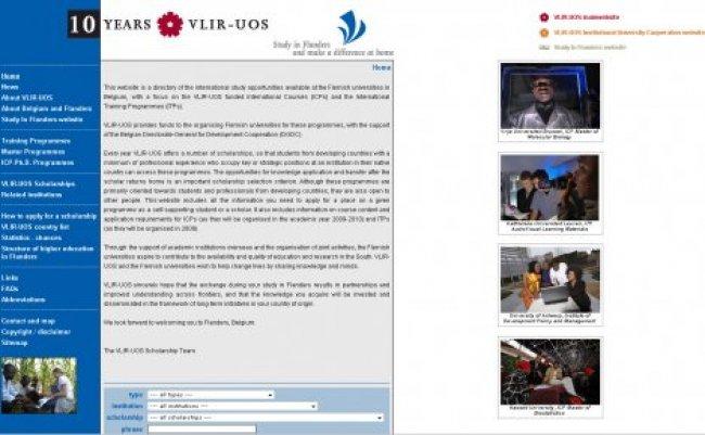 VLIR-UOS: Website VLIR-UOS scholarschips
