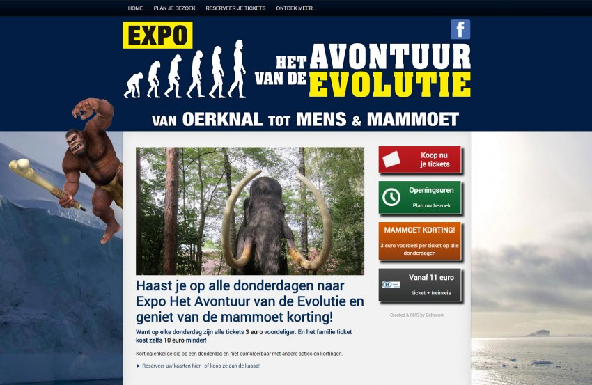 Arrano bvba: Website voor de Evolutie Expo