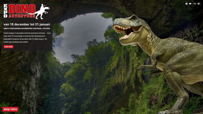 Arrano bvba: Website voor Expo Dino Adventure