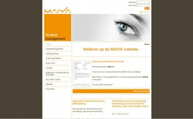 ERS-NET nv: Website www.maiya.be