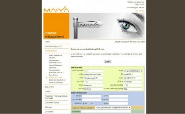 ERS-NET nv: Website www.maiya.be