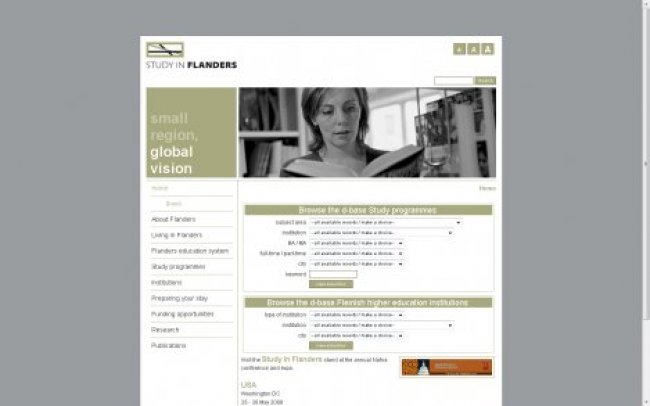 Study In Flanders: www.studyinflanders.be